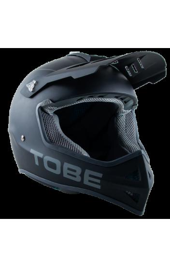 Шлем матовый TOBE <span>  VERTEX Jet Black</span>